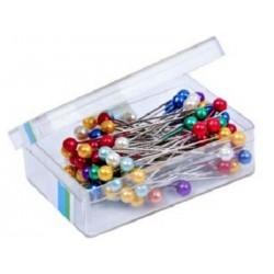 Szpilki krawieckie perłowe kolor