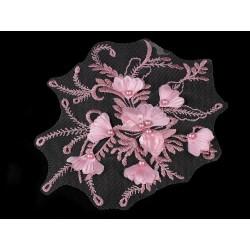 Aplikacja na monofilu z perełkami