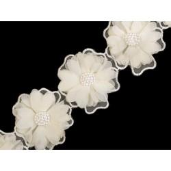 Kwiat z perełkami
