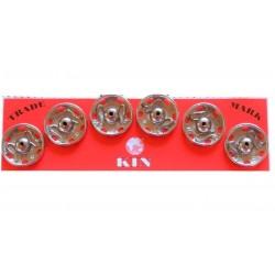 Zatrzaski metalowe 7  19mm SREBRNE