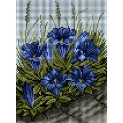 Kanwa 18x24 KWIATY haft krzyżykowy