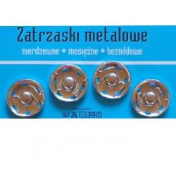 Zatrzaski metalowe 8  21mm NIKLOWANE