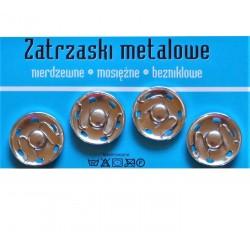 Zatrzaski metalowe 10 25mm NIKIEL