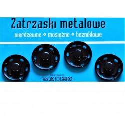 Zatrzaski metalowe 10  25mm CZARNE