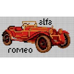 Kanwa 18x10 ALFA ROMEO haft krzyżykowy
