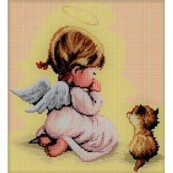 ZESTAW kanwa 29x32 Dziewczynka - Modlitwa